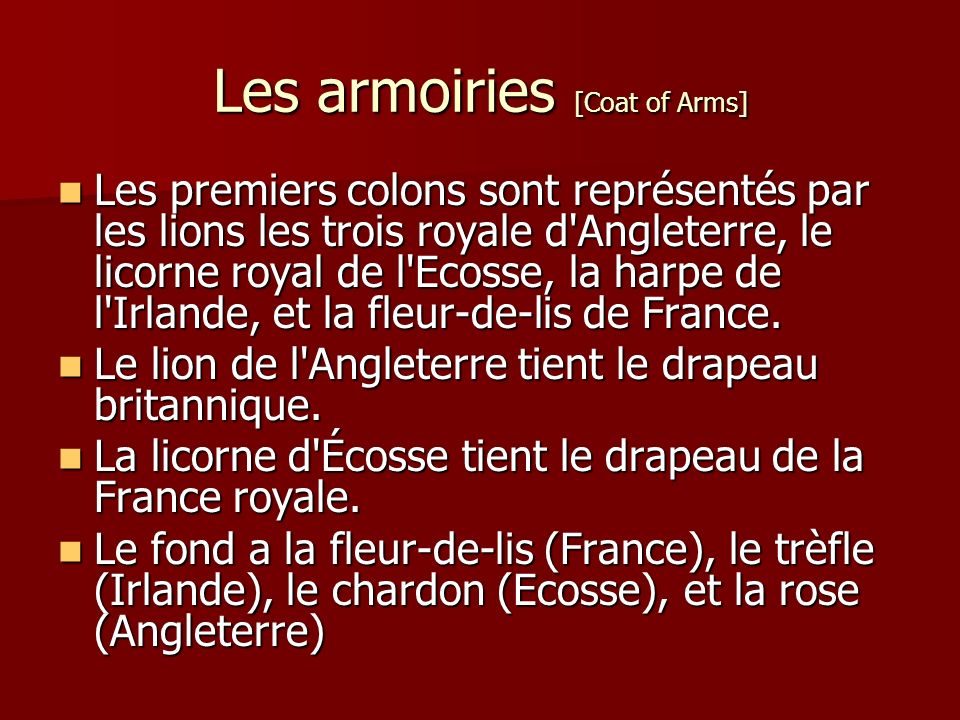 Les armoiries [Coat of Arms]